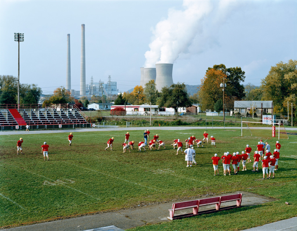 Mitch Epstein, Poca High School and Amos Coal Power Plant, West Virginia, 2004
